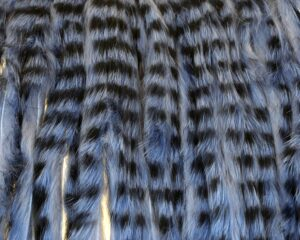 Tiger Zonker Strips – Blue over Light Grey with Black grizzly markings